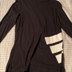 Adidas shirt hoodie size L 14-16